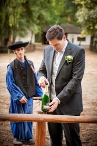 esküvő - üvegleverés